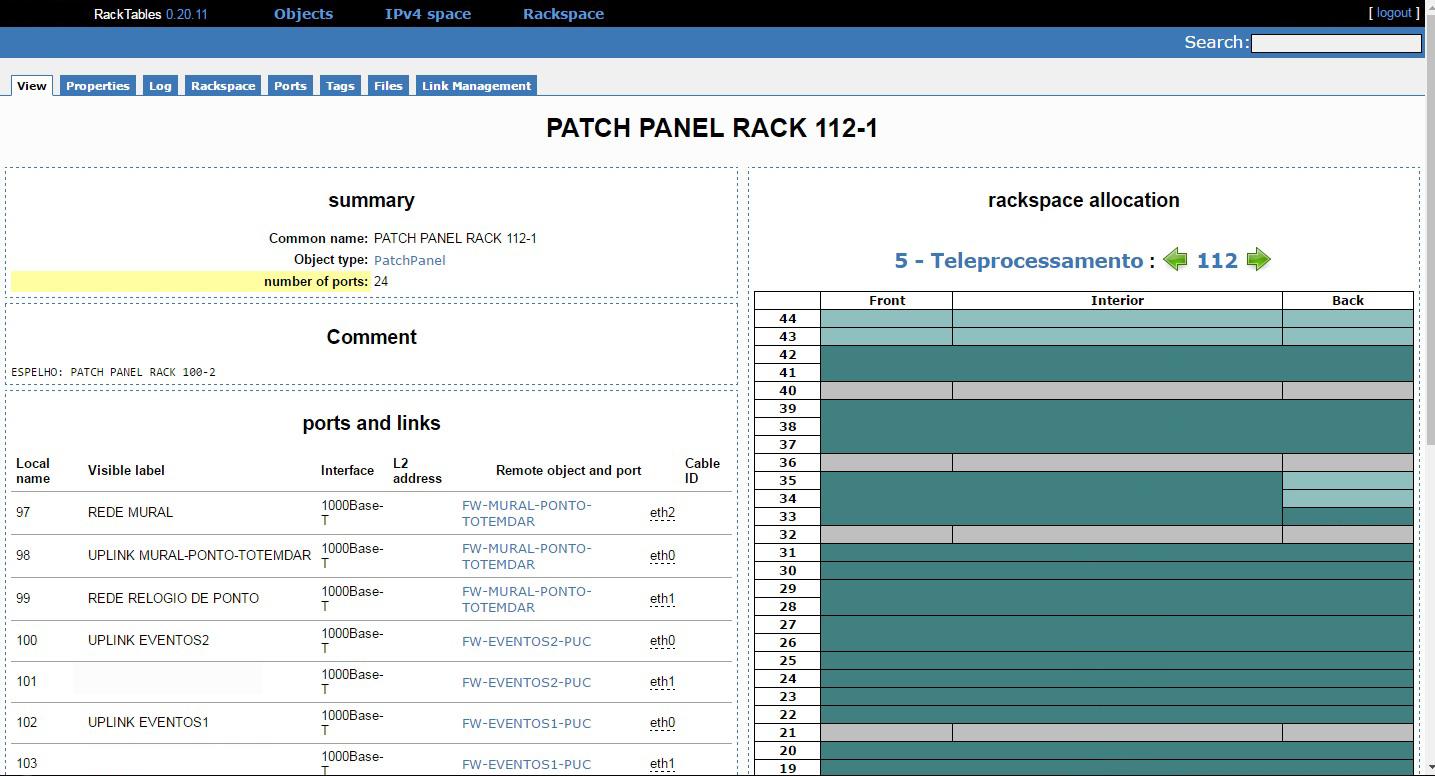 RackTables bug tracker